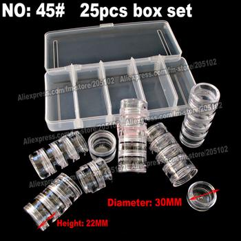 1set/lot  25pcs box set, screw plastic acrylic cosmetic nail-art Pill box jars case,portable storage container,diy stones tools