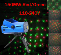 Free shipping 150MW Mini Red Green Twink Moving Party Laser Stage Light laser DJ party light  Twinkle With Tripod 110-240V