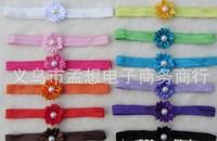 2013 beauitufl colourful one children cusp pearl flowers fine hair band baby flower hair accessories 1200pcs