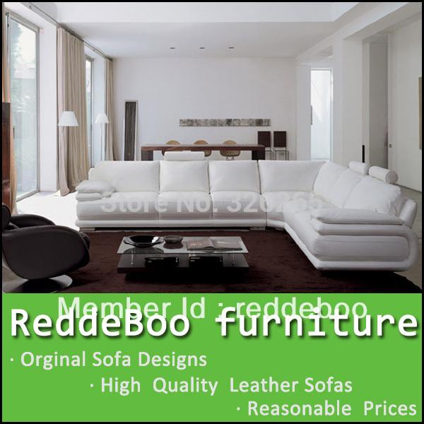white leather big corner sofa, classical sofa 711(China (Mainland))