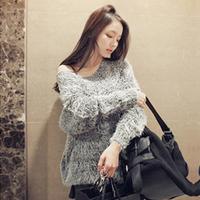 0313 o-neck long-sleeve loose sweater outerwear 2012 women's