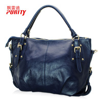 100%Genuine leather 2012 women's bags first layer of cowhide women's handbag one shoulder handbag messenger bag