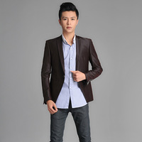 Autumn men's clothing casual blazer suit male suit slim men's clothing suit fashion blazer