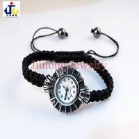 Free shipping.wholesale 12pcs/lot round stainless steel shamballa wrist watch charm Bracelet.fashion jewelry WB0018