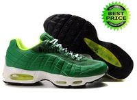 Freeshipping Wholesale Famous Sneakers 95 Men's Sports Running Shoes (pine green / white / black)