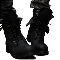 Free Shipping Hot Sale Fashion Men's High Quality British Trend Martin Boots Army Double Leather Boots Lowest Price 39-44