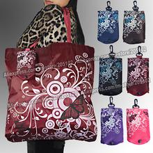10pcs/lot , Big square pocket folding fabric shopping bag,many colors mixed sales Eco-friendly durable foldable handle bag(China (Mainland))