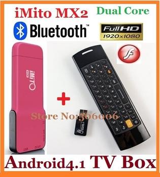 Free shipping ,iMito MX2 Android 4.1 TV Box RK3066 Dual Core Cotex A9 Quad-Core GPU RAM 1G/8G WiFi HDMI 3D Gaming XBMC Bluetooth