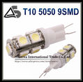 Car LED T10 194 W5W 5050 9SMD Yellow Red Blue Green White Wedge Light Bulb Lamp