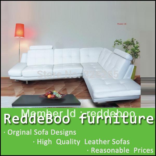 italian leather big corner sofa 8023(China (Mainland))