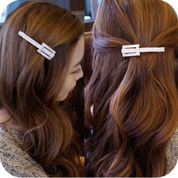 Oh0079 hair accessory fashion rhinestone gentlewomen hair accessory hair accessory hairpin clip side-knotted clip