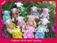 Promotional gift plush toys mini bear with ribbon teddy bear gift wedding bear 20pcs/lot