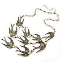 Min.order is $10(mix order) On0097 fashion vintage elegant swallow short design necklace popular accessories
