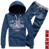 High quality wholesale 2013 Spring and Autumn Korean men the Slim track suit (jacket + pants) / blue denim. Burgundy black gray
