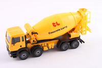 Bulimic heavy duty 8 wheel cement mixer truck super exquisite car alloy car model