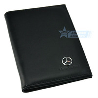 Leather Cowhide Benz Passport Bag Passport Jacket Passport Folder Holder