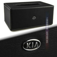 Luxury Cortex Kia K5/K2/Sportage/Cerato/Soul/Forte Car Tissue Box