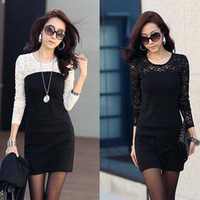 [Cerlony] 2014 New arrival Primer Dress For Spring and Autumn Korean Version Thin Slim Women Lace Casual Dresses 2A