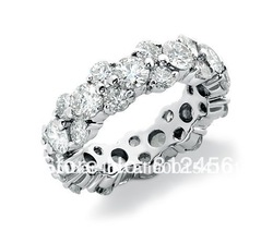 Size 5/6/7/8/9/10 Women Exclusive Design White Sapphire 10KT Gold Filled Wedding Gem Ring Gift for love(China (Mainland))