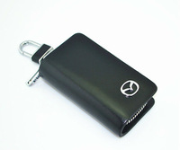 Yellow leather car key fob Mazda dedicated key holder  XX6336
