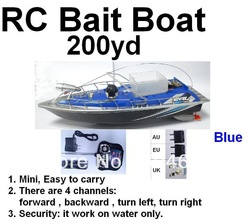 wholesale skyrules F2 Working Distance 200mm BLue rc fishing boats + Car charger(China (Mainland))