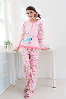 Free shipping Pajamas leisure outdoor knife dog pajamas long sleeve women's spring and autumn room twinset dropship