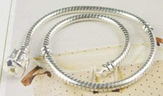 Min order $10 free shipping 1 Silver Bracelet fit Charm Bead Bracelet Necklace(China (Mainland))