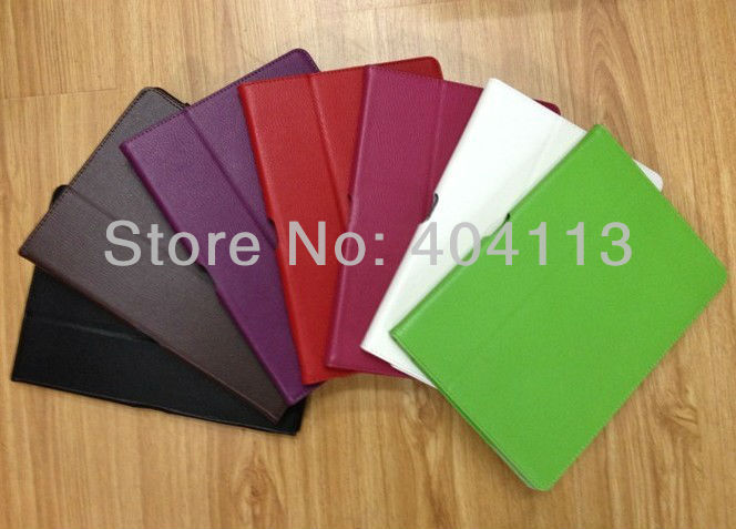 Folio PU Leather Case For ASUS Eee Pad Transformer TF300 TF300T 10.1 Tablet PC Stand(China (Mainland))