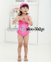 FREE SHIPPING----girl's cartoon swimwear children bathing suits cute Rhinestone cat one pieces swimsuits beachwear 1pcs s1208