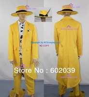 The Mask Stanley Ipkiss Cosplay Costume include hat with feather ornament
