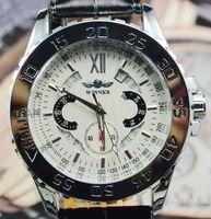 2014 White Mens Tachymeter Date Automatic Mechanical Men's Watch Wristwatch Gift Free Ship