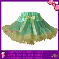 Easter extra larger size fit for 9-14T tutus,Easter pettiskirts,one piece lime/yellow tutus boutique