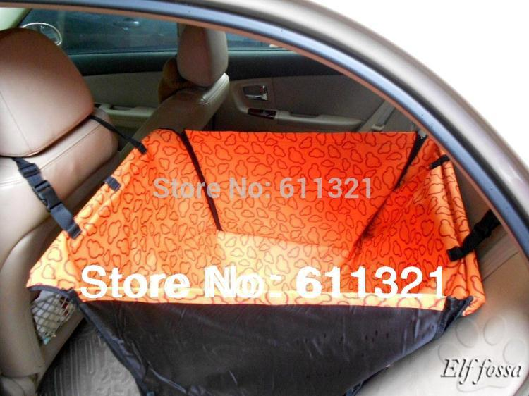 Pet Dog Cat Waterproof Car Seat Cover Mat Blanket Cradle Bed Rear Back Pets Hammock Cushion Protector Blue Red Pink Orange V3227(China (Mainland))