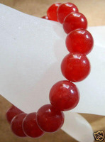 Charming!12mm Red Ruby Bracelet AAA