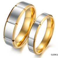 Valentine's Day gift  fashion jewelry Titanium Steel ring  lovers ring trend brief titanium lovers ring gj296