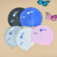 Free shipping! Senior waterproof silica gel swimming cap