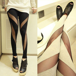 New Women's Lady Girl Mesh Stretch Sexy Pants Tights Leggings 2Colors 3794(China (Mainland))