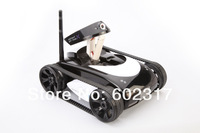 2013 New Wifi 4CH Instant RC iphone Tank Car controlled by Ipad iPhone mobile phone control with mini Camera white black gift