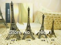 Free shipping 8cm France paris souvenir Retro metal crafts 3D Eiffel Tower,Bronze French la tour effel as personal collection.