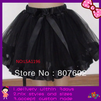 black ribbon tutus, free shipping pettiskirts,extra larger size fit for 9-14T