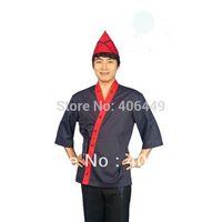 2014 New arrival Japanese cuisine chef uniform Japan Sushi women and man wear half sleeve Chef jackets D49