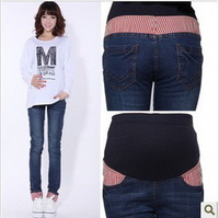 Wholesale - 2014 NEW Spring Fashion trousers Maternity jeans Pregnant women Jeans Maternity Clothes Casual Prop belly pants #058