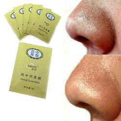 Herbal Deep Cleansing Nose Pores Blackhead Remove Strip Mineral Mud Beauty(China (Mainland))