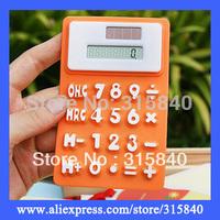 1pc New 2014 Fashion 8 Digits Solar Calculator Silica Gel Soft Mini Keyboard Calculator --  OFE02 SX