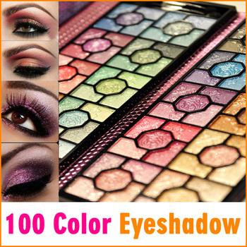 100 Colors Banquet Rose Makeup Eyeshadow Palette Set with Purple Foil Bag