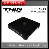 Thin client server WIN CE 6 PC stations for office/school/education,800Hz CPU network workstation N380