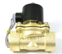 "Free Shipping Electric Solenoid Valve Water Air N/C 220V AC 3/4"" 2W200-20 Option DC12V,DC24V or AC110V(China (Mainland))"