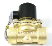 "Free Shipping Electric Solenoid Valve Water Air N/C 220V AC 3/4"" 2W200-20 Option DC12V,DC24V or AC110V"