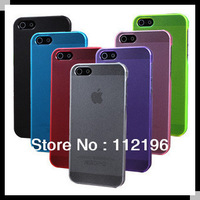 Wholesale 500pcs/lot Free Shipping  Ultra Thin Crystal Matte Multicolor Transparent Plastic Case Cover for iPhone 5 5G iphone5