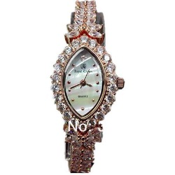 Special offer 2013 Valentine gift Royal crown 3588 diamond framed rose gold plated bracelet fashion jewelry watch free shipping(China (Mainland))